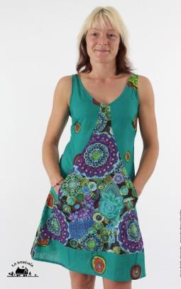 Robe ethnique courte imprimé