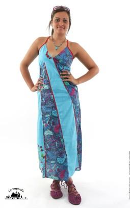 Robe ethnique longue coton imprimé