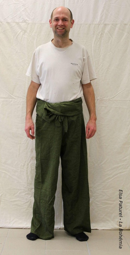 Pantalon pêcheur couleur unie 120cm
