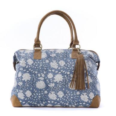 Grand sac weekender bleu