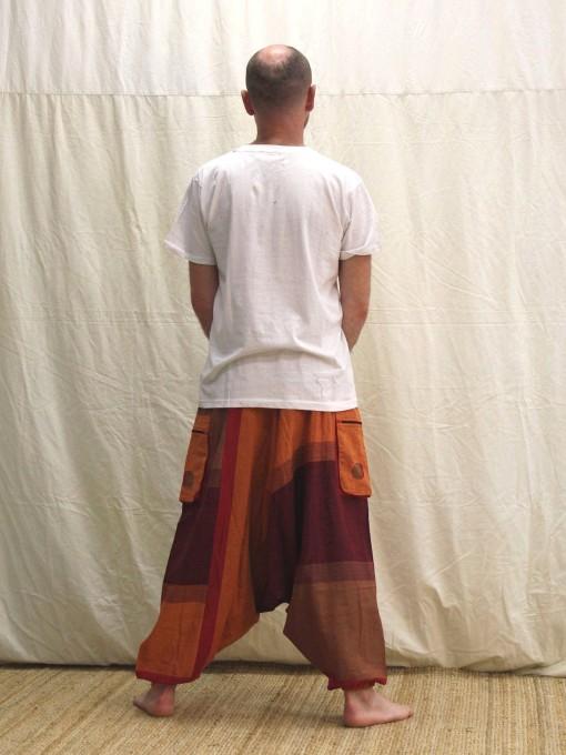 Sarouel orange à rayures