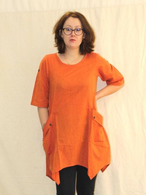 Tunique ample orange